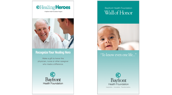 Donor program brochure covers