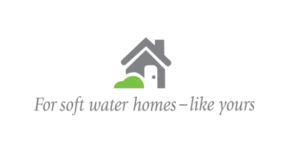 Soft water homes icon and tag line