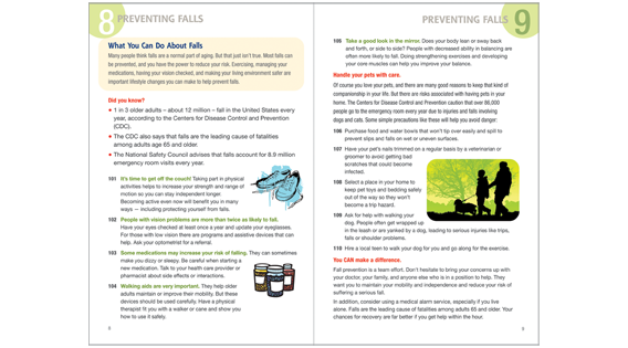 Home Safety Guide, fall prevention spread
