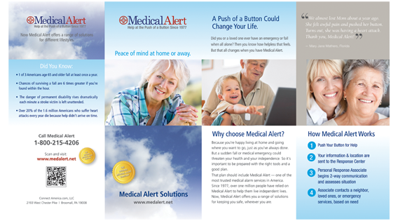 Care Solutions brochure, front side